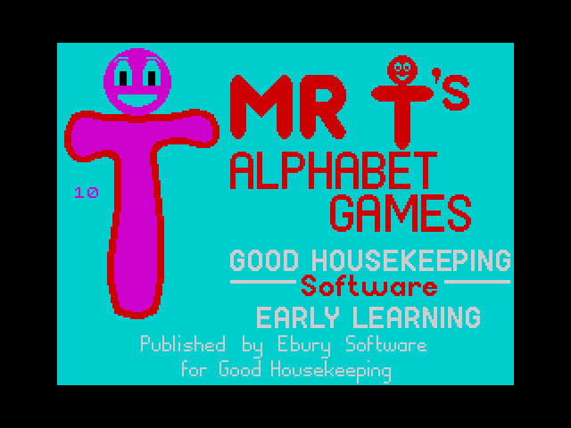 Mr T's Alphabet Games screen