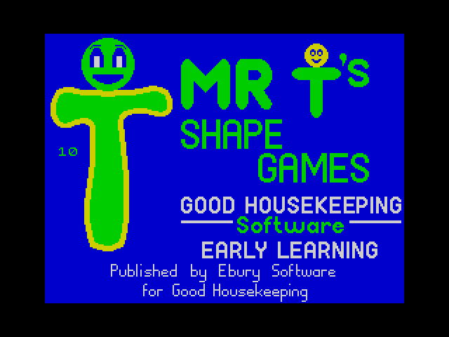 Mr T's Shape Games screen