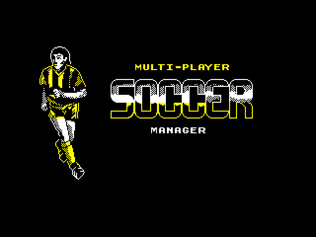 Multi-Player Soccer Manager screen