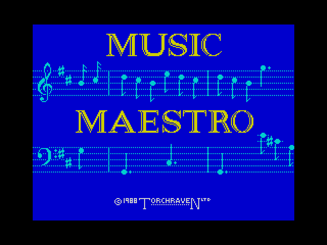 Music Maestro screen