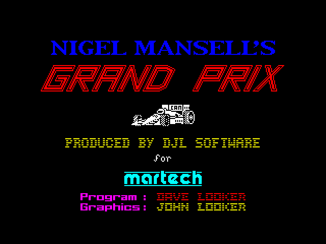 Nigel Mansell's Grand Prix image, screenshot or loading screen