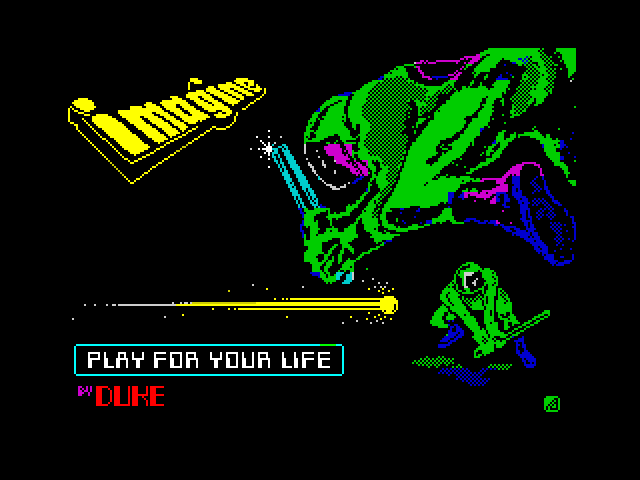 Play for Your Life screen