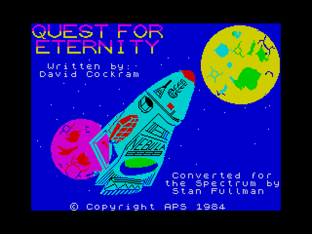 Quest for Eternity screen
