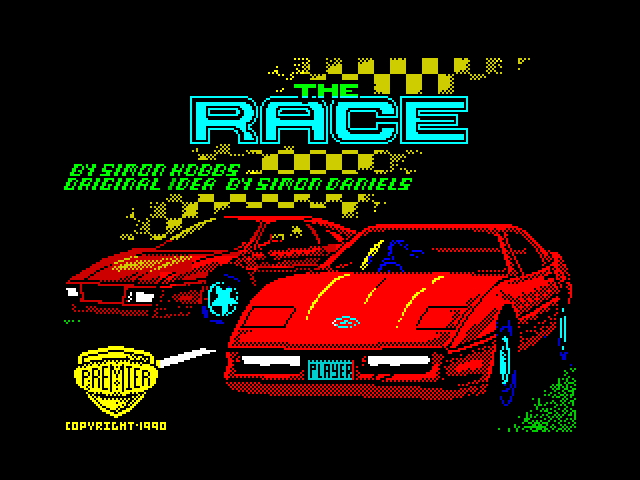 The Race screen