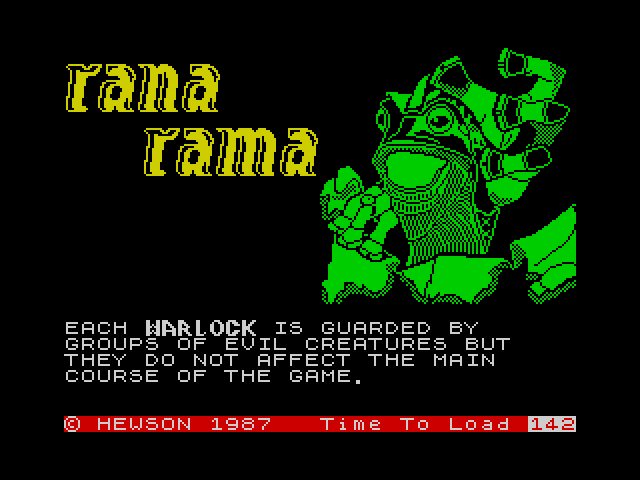 Ranarama screenshot