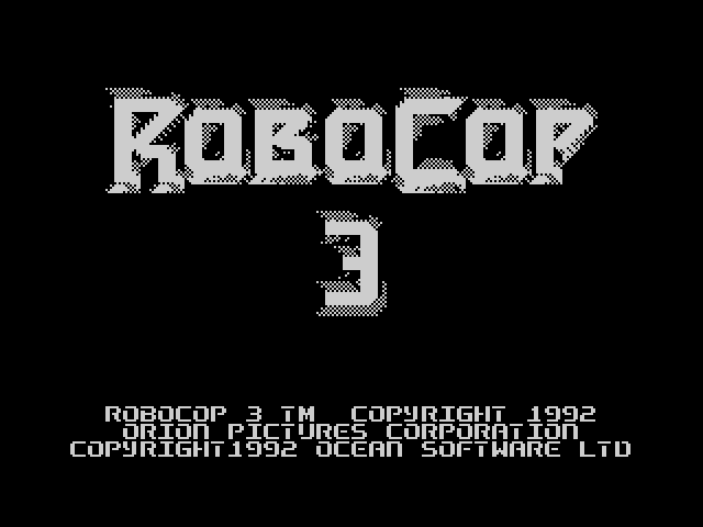 RoboCop 3 screen