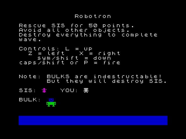 Robotron screenshot