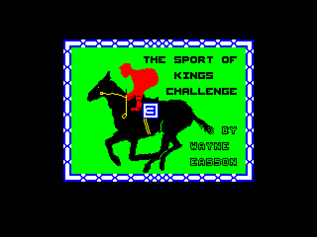 The Sport of Kings Challenge screen