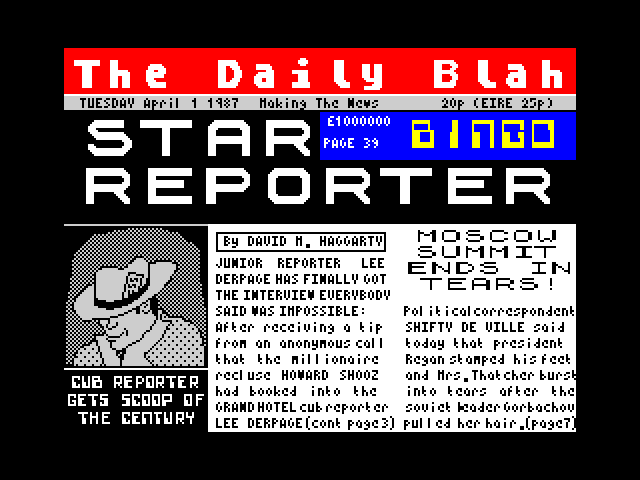Star Reporter screen