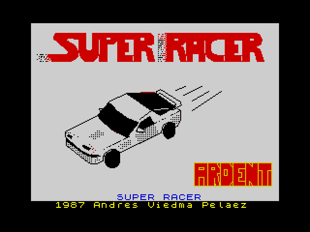 Super Racer screen