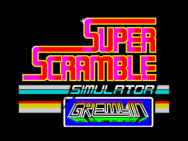 Super Scramble Simulator screen