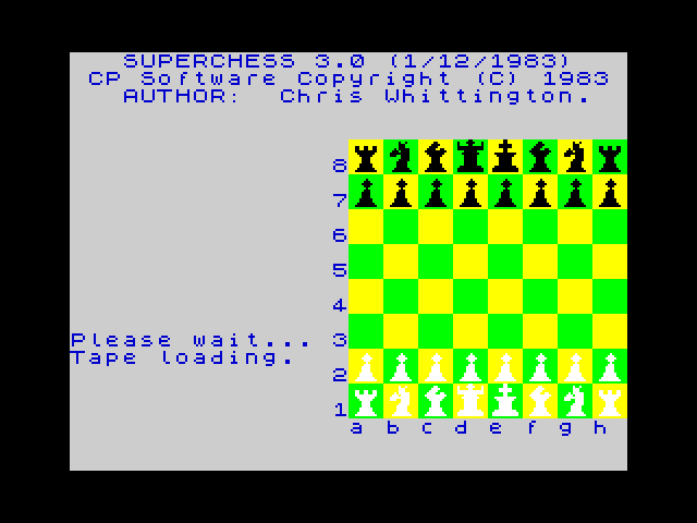 Superchess 3 screenshot