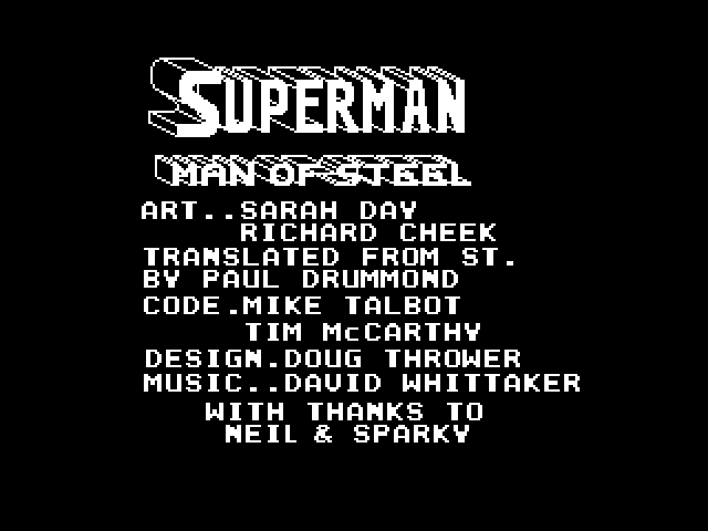 Superman - The Man of Steel image, screenshot or loading screen