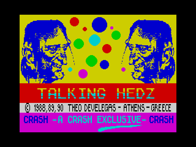 Talking Hedz screen