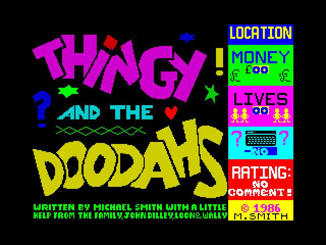 Thingy and the Doodahs screen