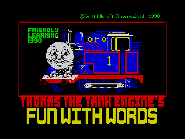 Thomas the Tank Engine's Fun With Words screenshot