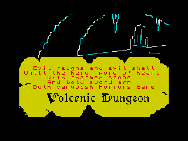 Volcanic Dungeon screen