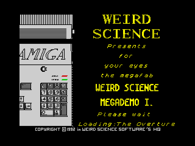 Weird Science Megademo 1 screen