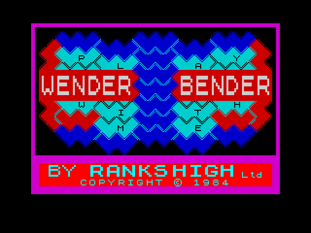 Wender Bender screen