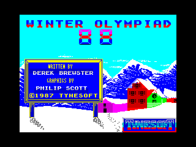 Winter Olympiad '88 screen