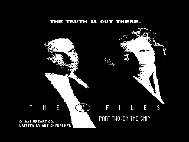 The X Files - Part 2: On the Ship screen