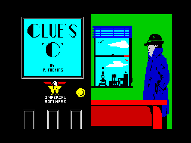 CLUE'S 'O' screen