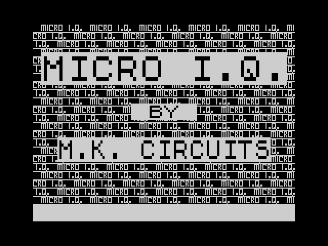 Micro IQ screen