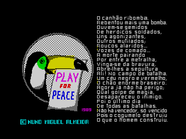 Play for Peace screen