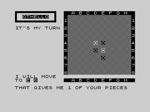 ZX81 Othello image, screenshot or loading screen