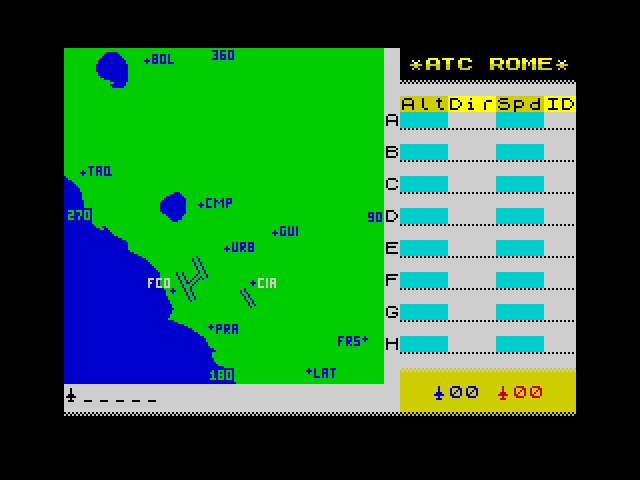 Air Traffic Control Rome screen