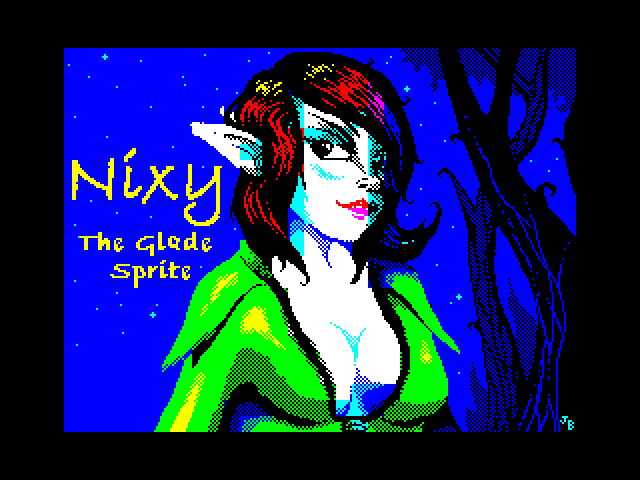 Nixy the Glade Sprite screen