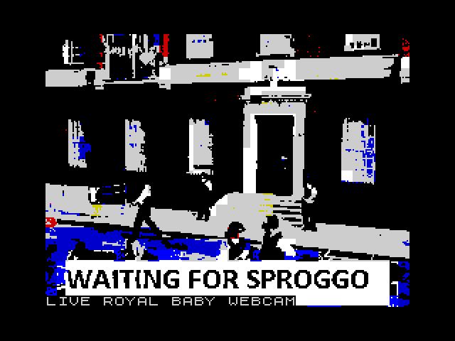 Waiting for Sproggo screen