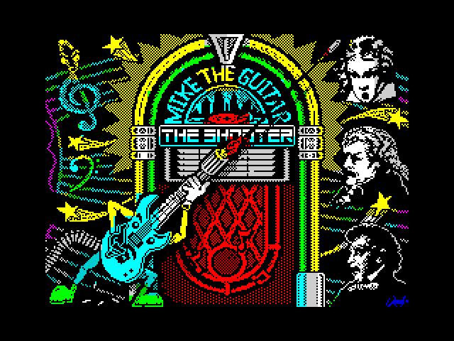 Mike the Guitar - The Shooter screen