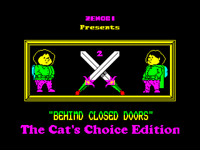 Behind Closed Doors - Edit 2: The Cat's Choice Edition screen