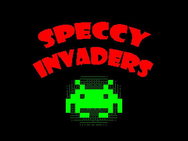 Speccy Invaders screen