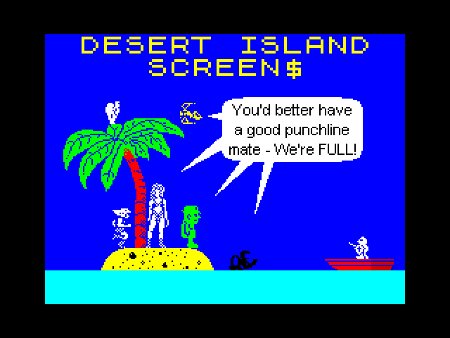 Desert Island SCREEN$ image, screenshot or loading screen